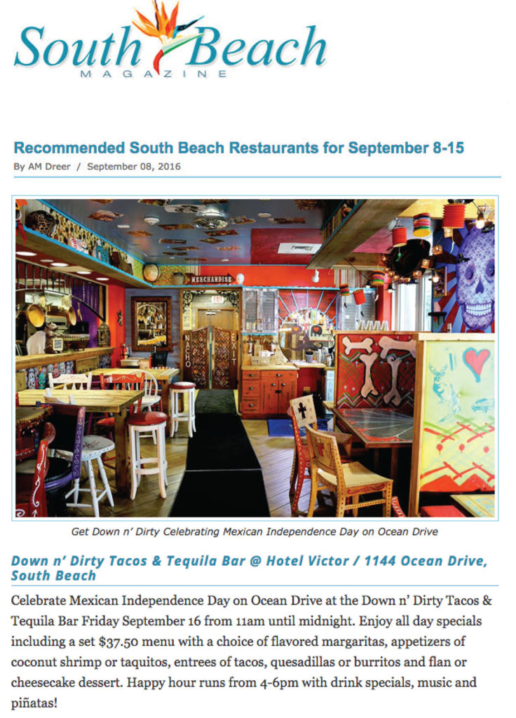 Recommended south beach restaurants